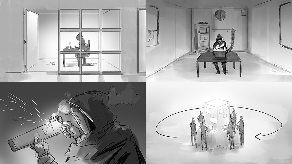 Decipher Storyboard Illustrations