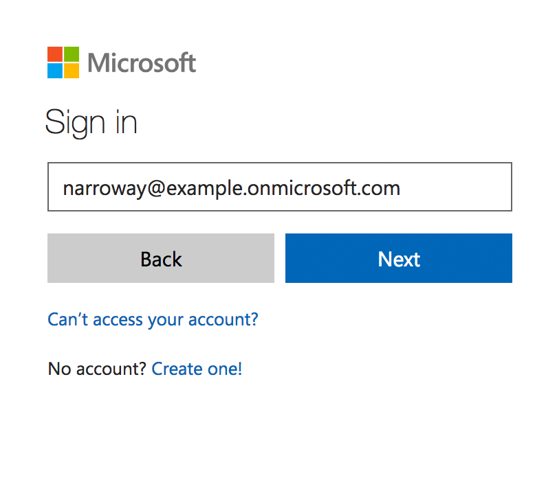 Sign in to Azure