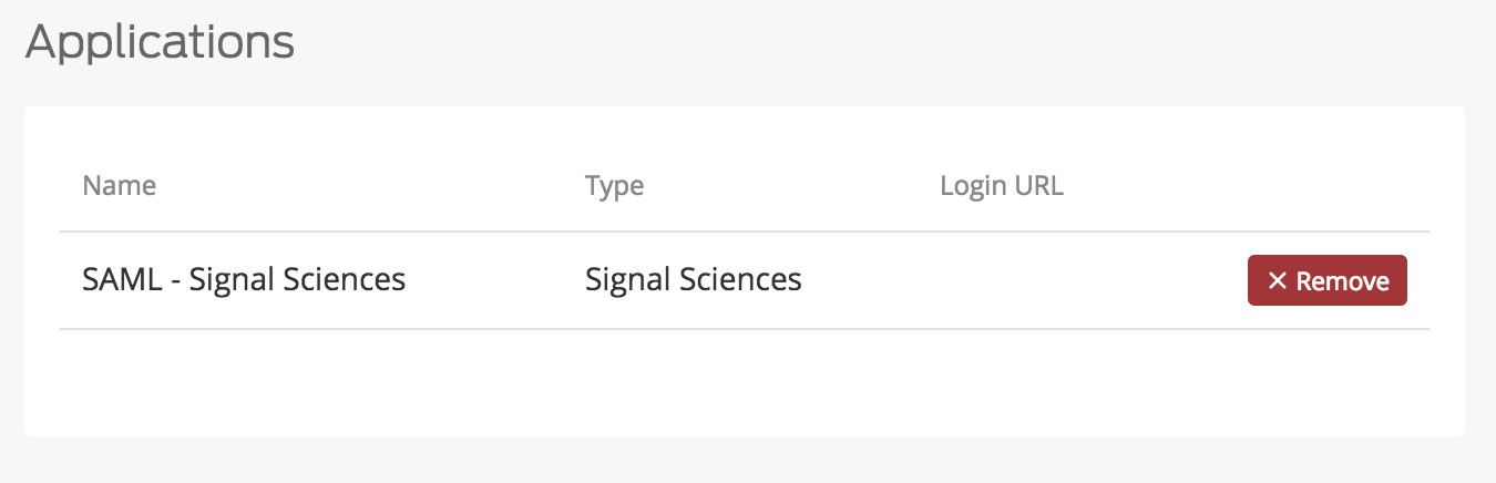 Signal Sciences Application Added