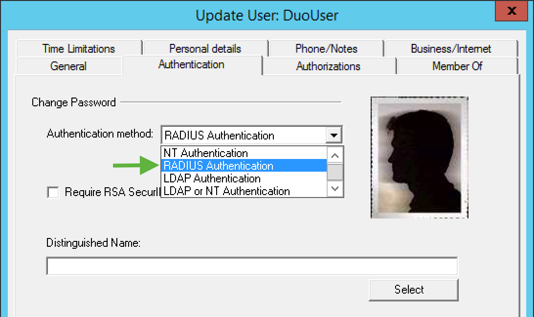 CyberArk User Authentication Method