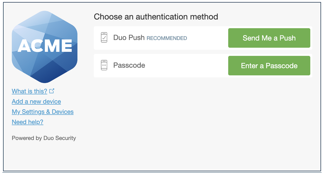 Authentication Prompt Without Phone