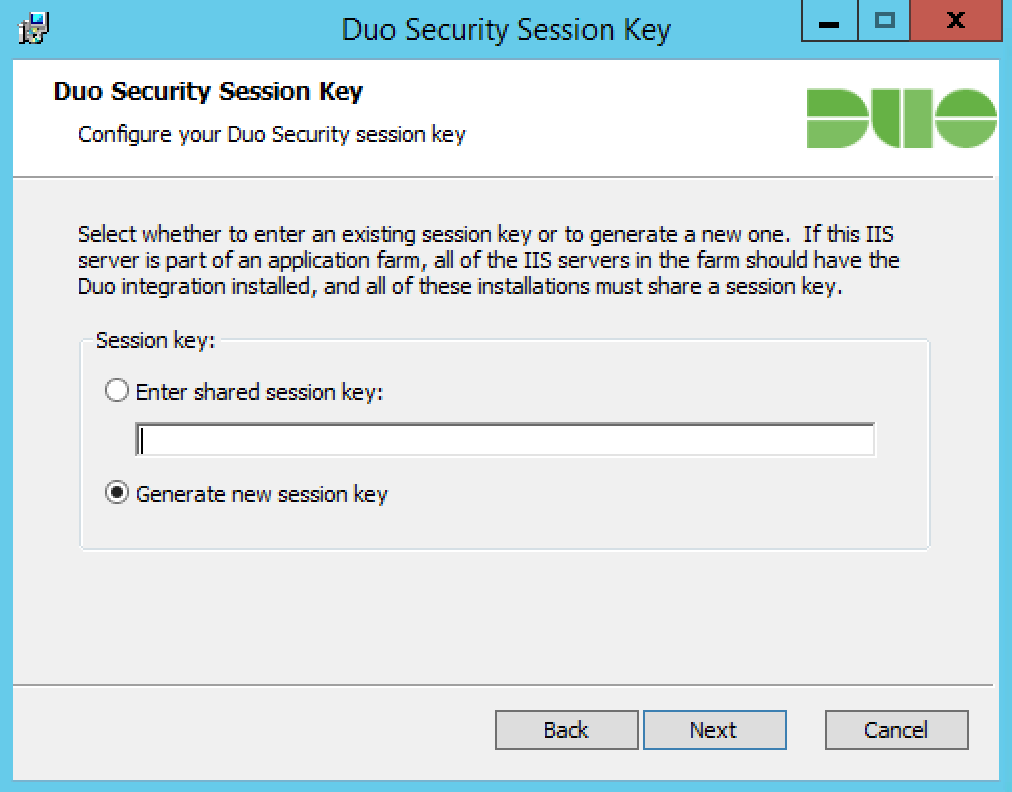 Create Session Key