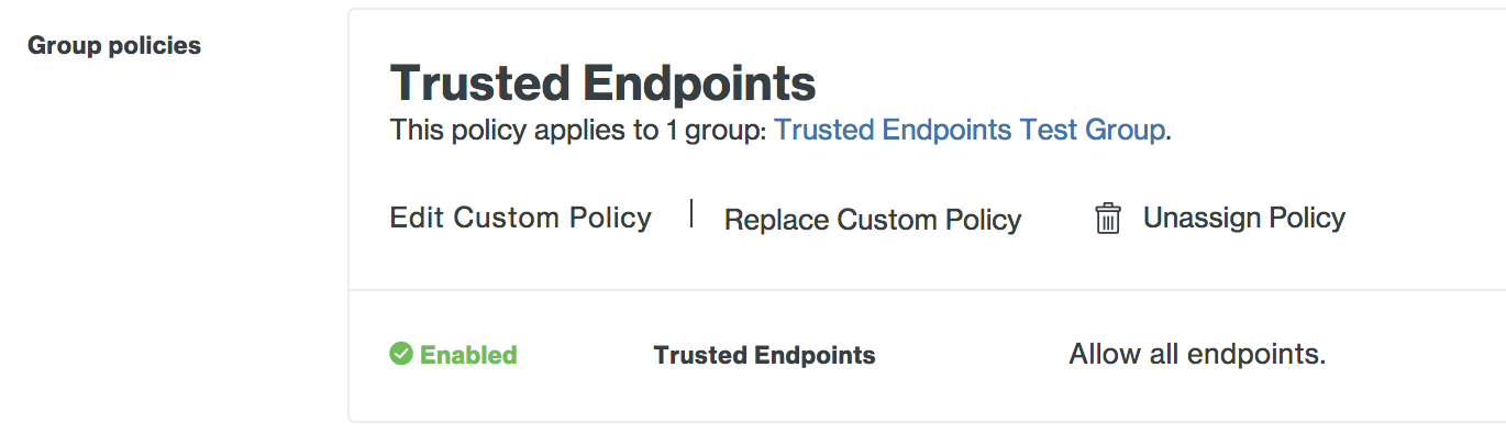 Applied Trusted Endpoints Group Policy