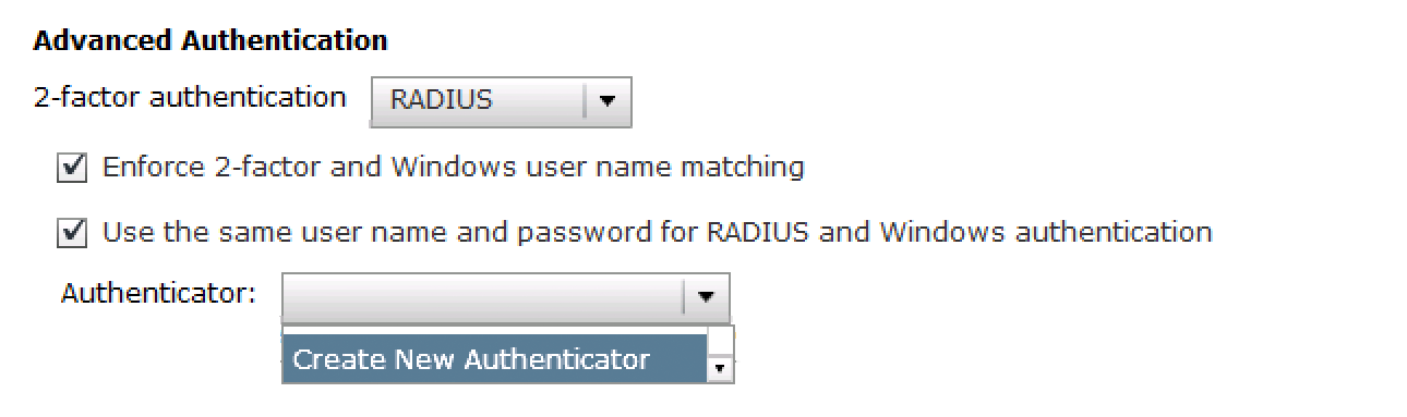 Enable Options and Add New Authenticator