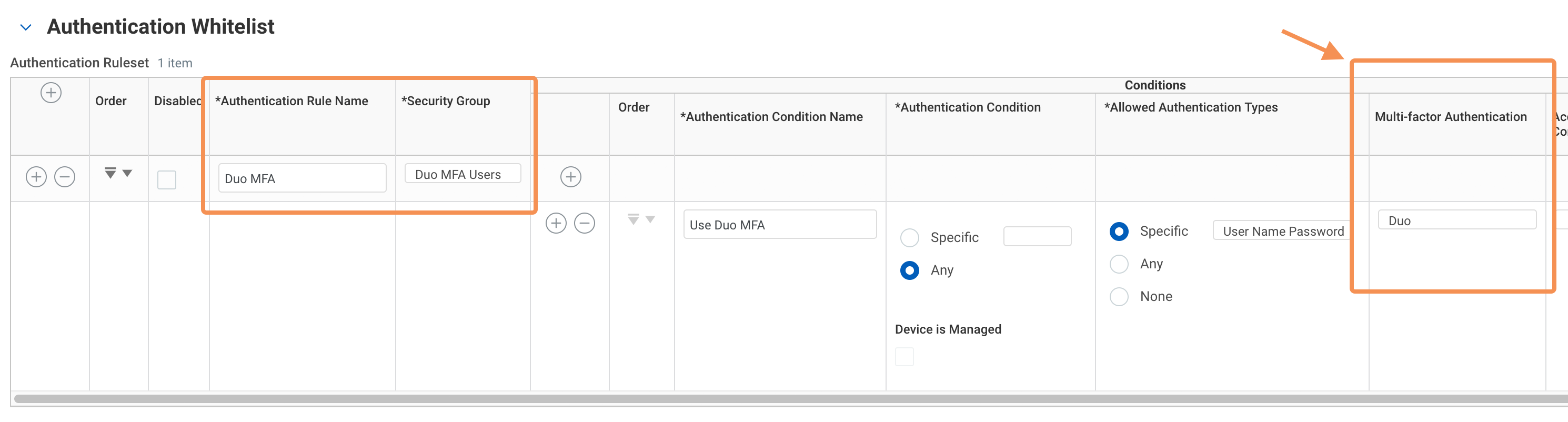 Workday Duo Authentication Rule