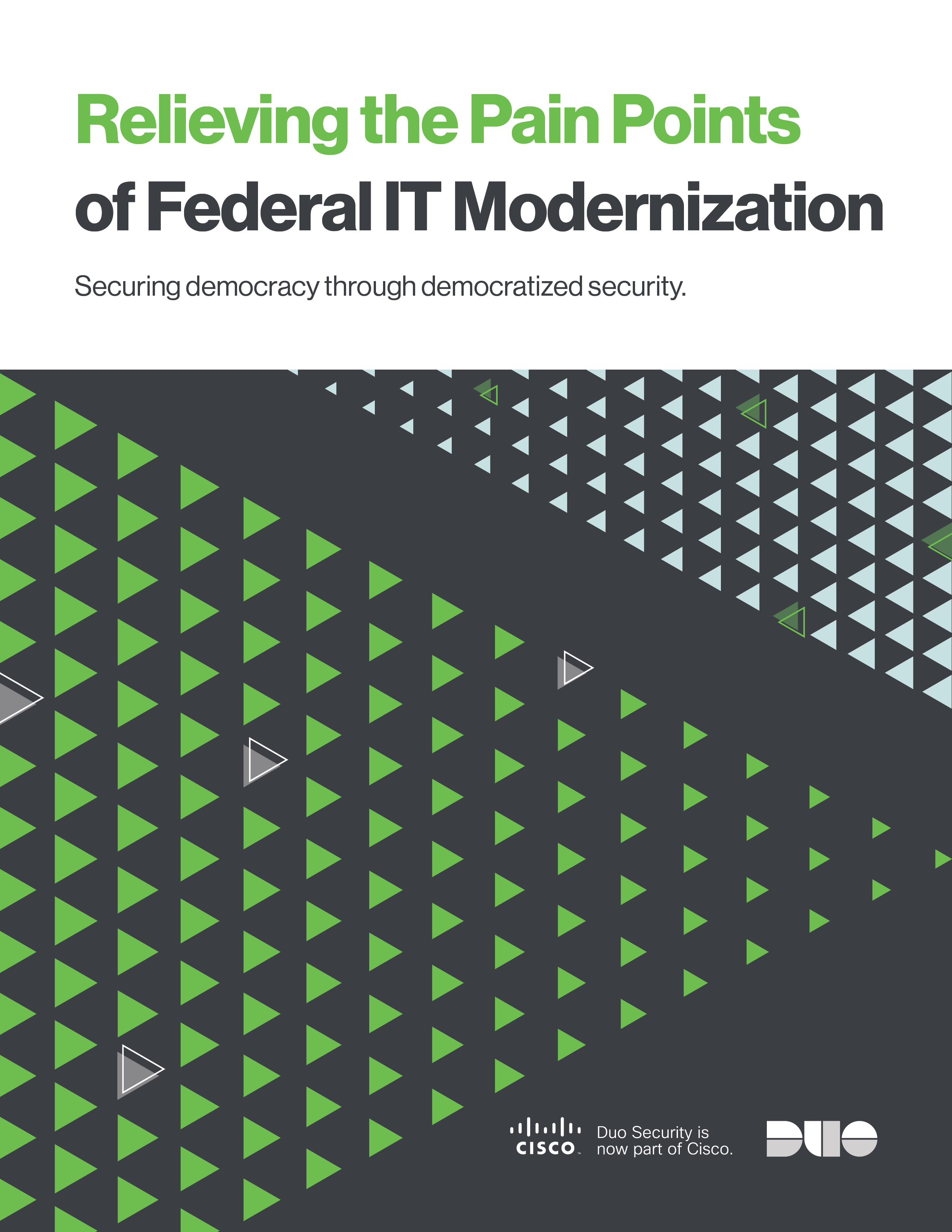 Cover of Relieving the Pain Points of Federal IT Modernization eBook