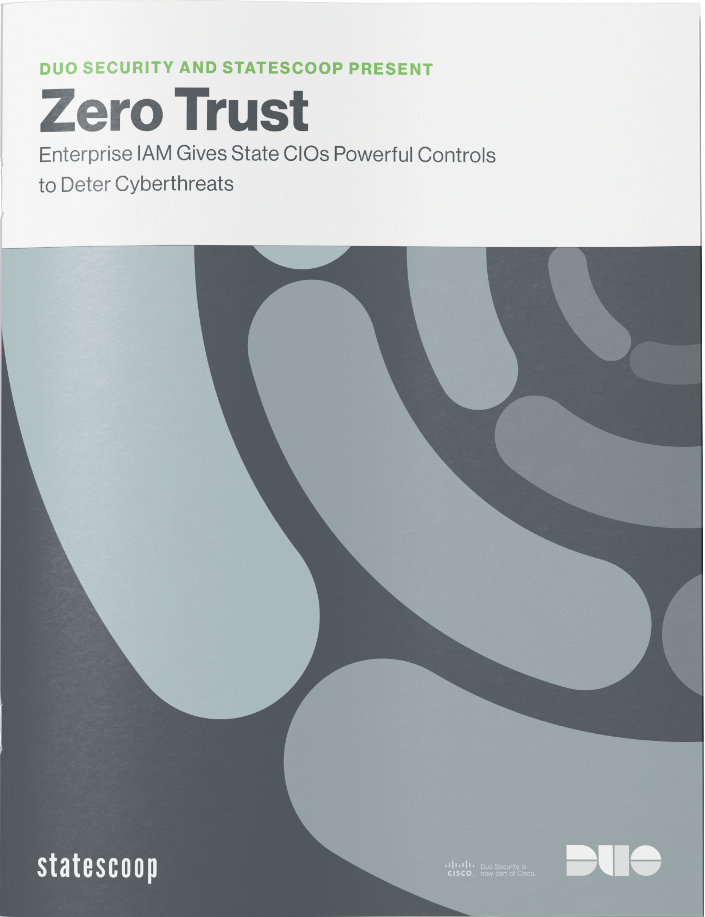 Cover of Zero Trust Enterprise IAM Gives State CIOs Powerful Controls to Deter Cyberthreats eBook